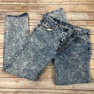 Vintage Levi's 501 acid wash denim jeans